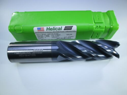 """NEW HELICAL HSV-M-41000 1"""" INCH SOLID CARBIDE END MILL EDP 30737 MILLING TOOL"""