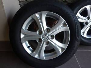MAZDA 3 ALLOYS AND TYRES - SET OF 4- IN EXCELENT CONDITION Mount Gravatt Brisbane South East Preview