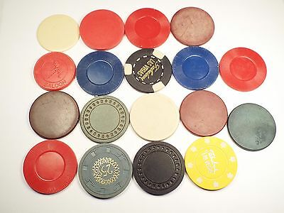 Lot of 18 Different Casino Poker Chips