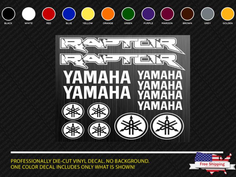 Raptor 350 600 660 700 Rear Fender Graphics Decals Stickers ATV QUAD Yamaha