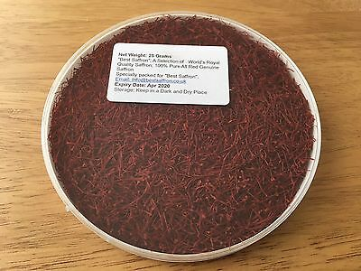 25 Gram 100% Pure Genuine Royal Quality Saffron Spice, Grade I, used for sale  Shipping to Canada