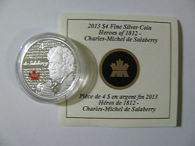 Click now to see the BUY IT NOW Price! 2013 PROOF $4 WAR OF 1812 HEROES 3 LT COL CHARLES DE SALABERRY COIN&COA ONLY .9