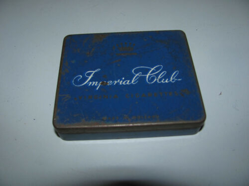 Vintage Imperial Club Virginia Cigarette Tin In As Shown Condition