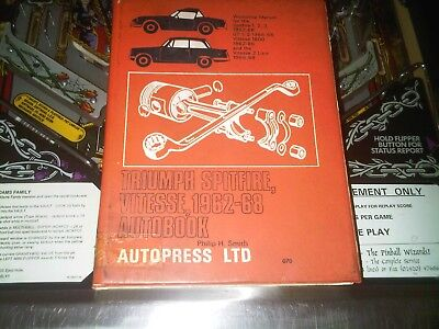 Triumph Spitfire Vitesse & GT6 1962 to 1968 Owners Workshop Manual Autobooks