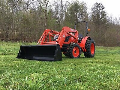 Kioti Dk4510 Tractor With Loader Trailer Box Blade And Rotary Cutter Package