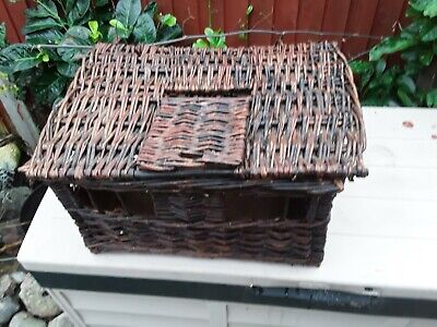 Old Vintage Antique Used Pigeon Bird Wicker Basket. Needs Some Attention