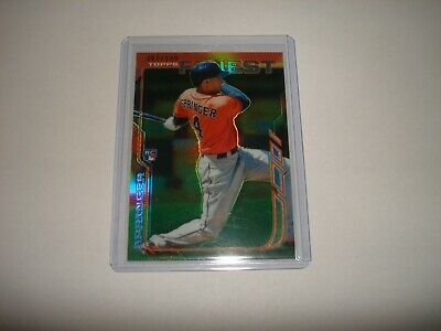 2014 Topps Finest Green George Springer Rookie #82/199
