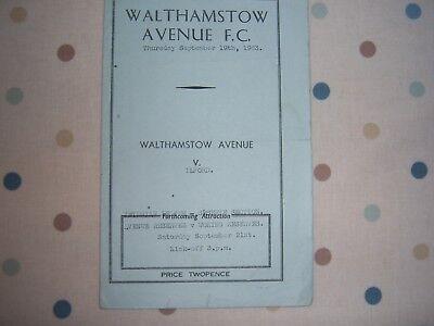WALTHAMSTOW AVENUE V ILFORD 63/64