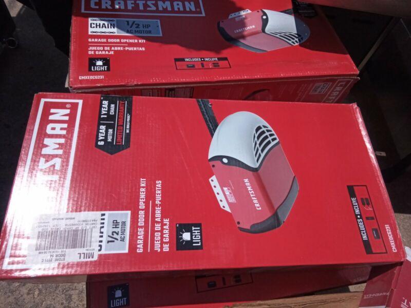 Craftsman 1/2 HP Chain Drive Garage Door Opener CMXEOCG231 - (New)