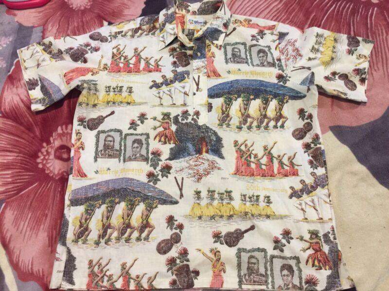 Vintage Reyn Spooner 2013 Merrie Monarch Featival Hawaiian Shirt Size XL