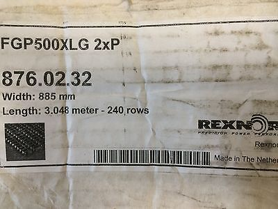 New Rexnord 3.048m Mat-top Mattop Chain 876.02.32 Fgp500xlg 2x9 885mm Wide