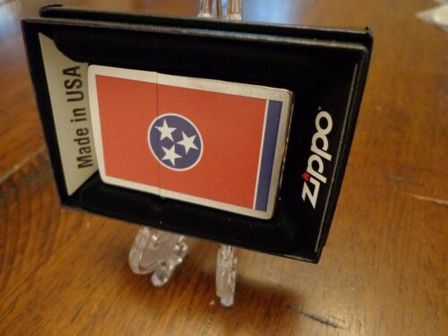TENNESSEE STATE FLAG SERIES ZIPPO LIGHTER MINT IN BOX