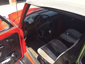 Beautiful Bright Red 1973 Volkswagen Beetle convertible for sale