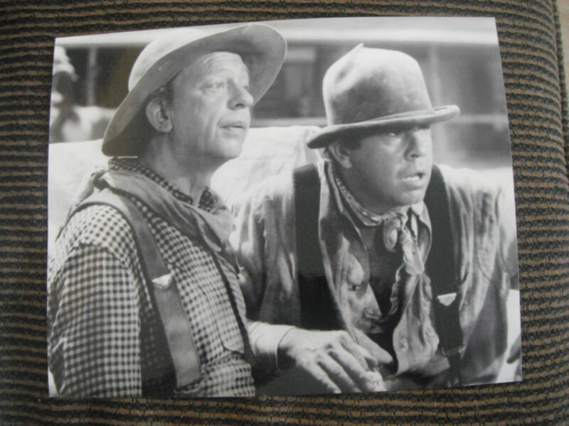 Don Knots Tim Conway Apple Dumplin Gang 8x10 B&W Photo Photograph Movie