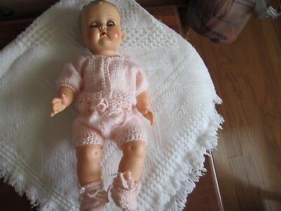 """NO DOLL BEAUTIFUL DOLL CLOTHES HAND KNIT LAYETTE FITS16"""" BETSY W 15"""" TINY TEARS"""
