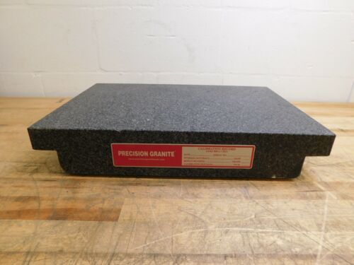 "Precision Granite Inspection Surface Plate 18"" L x 12"" W x 3"" T 01941103 DAMAGE"