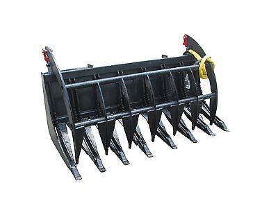 Bobcat E-series 78 Root Rake Grapple Skidsteer Attachment