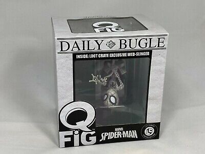 Marvel Q-Fig Daily Bugle Spiderman Web Slinger Loot Crate Exclusive New
