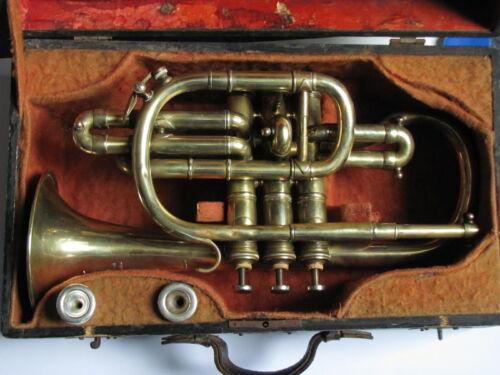 Antique Cornet Thibouville Lamy c.1901 & case (great playing condition, B flat)