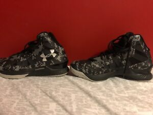 Charged Under Armour basketball shoes