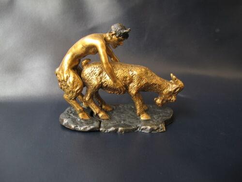 Satyr   Devil Bronze   sexual Erotic statue bronze