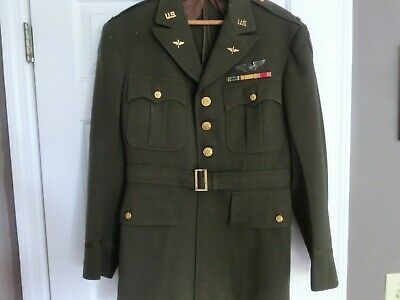 WWII US Army Air Force Officer Tunic Jacket SZ 39 USAAF WW2 1940s - No Reserve