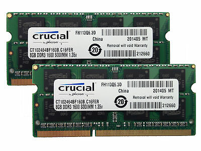 16GB 8GBx2 RAM MEMORY kit DDR3 PC3-12800,1600MHz for 2012 Apple Macbook Pro's