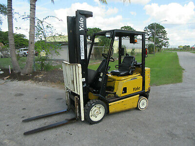 Yale Gco50r 5000 Lb Forklift Gas Engine - Lift 152 6409 Hrs Solid Tires