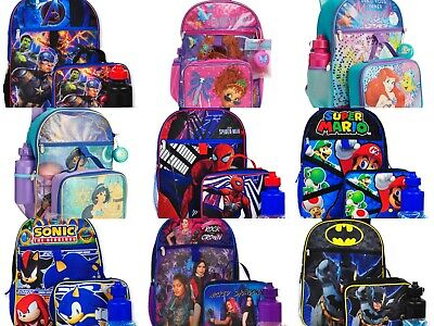 Boys Girls School Backpack Lunch box Book Bag Kids Gift Toy 5 Piece SET Toy Gift - Backpacks Lunch Boxes