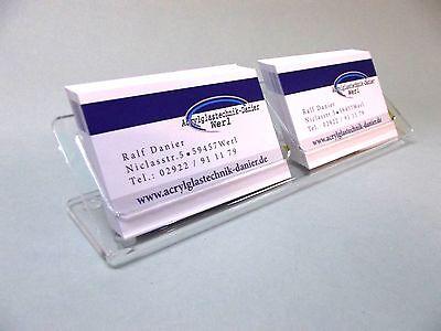 2- Fach Visitenkartenständer aus Acrylglas,Visitenkarten,Visitenkartenhalter