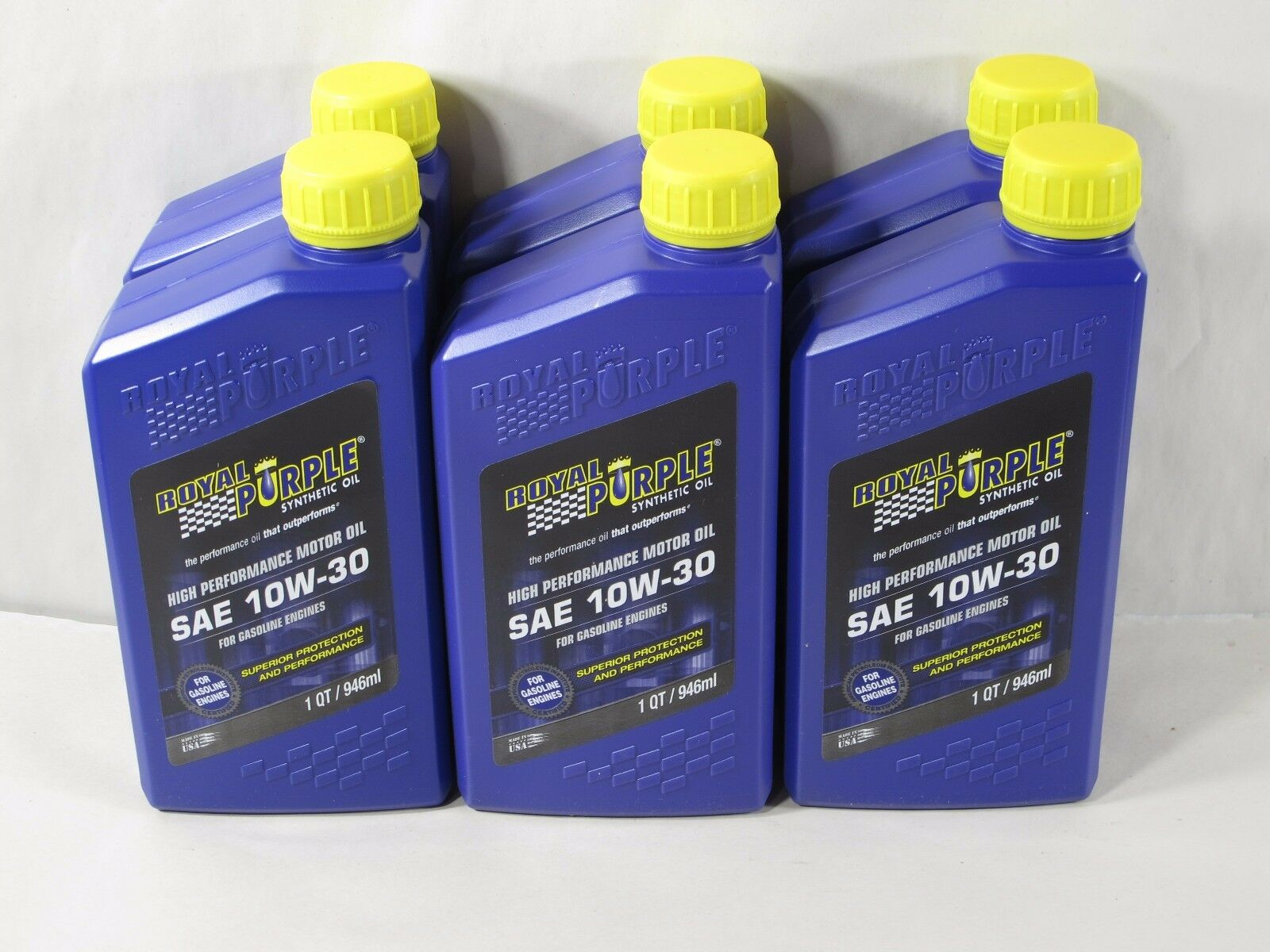 Royal Purple 01130 SAE 10W-30 RP Series Synthetic Oil - (6) 1 Qt Bottles