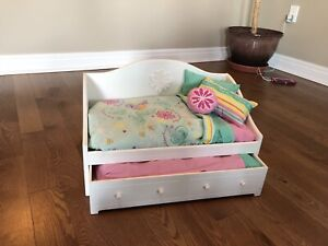 American Girl Day Bed and bedding