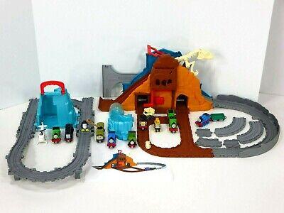 Thomas Take N Play Roaring Dino Run Track Set Percy's Penguin Adventure Lot
