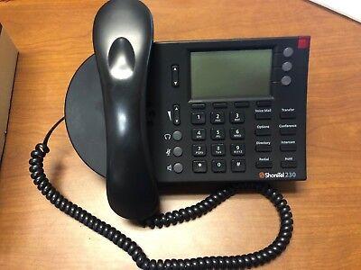Shoretel Ip 230 Voip Office Telephone Sev Black Phones Free Shipping