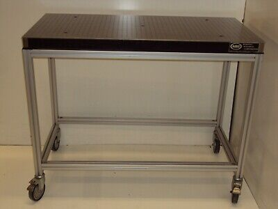 Crateship Newport 2x4 Optical Breadboard Table Roll-around T-slot Workbench