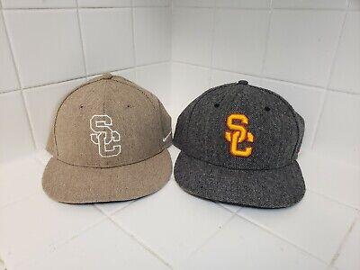 Lot of 2 Nike True USC Hats Caps Snapback