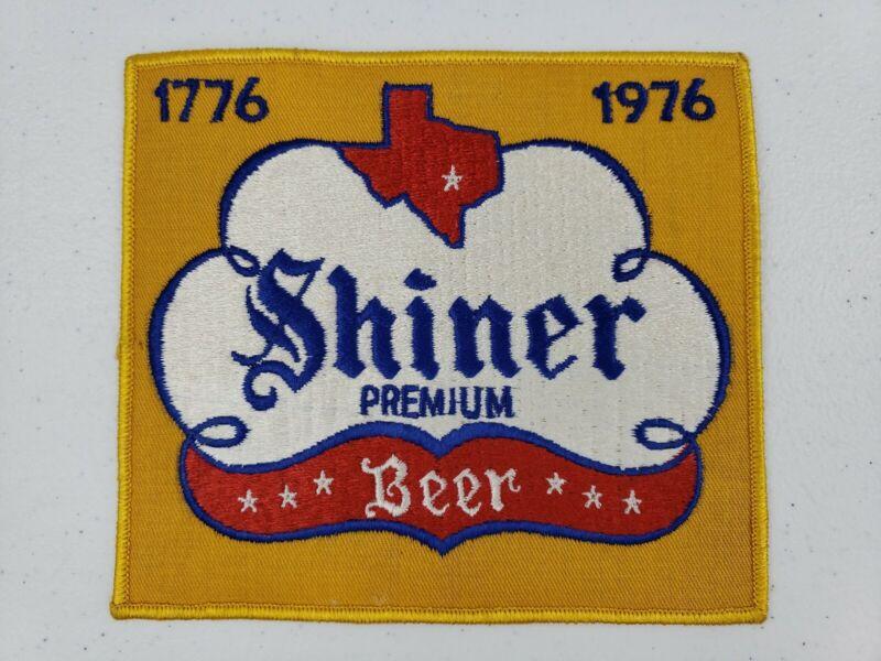 RARE Vintage 1970s X LARGE Shiner Premium Beer Bicentennial Jacket Uniform Patch