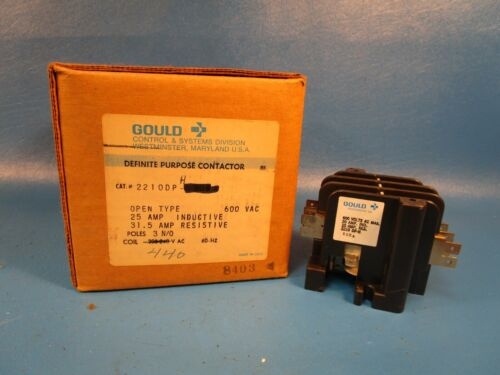 USED Gould, I-T-E, 2210DP-H Definite Purpose Contactor (Telemecanique,Schneider)
