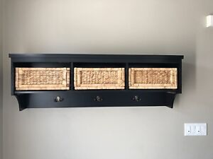 Wooden storage shelf for only $100.