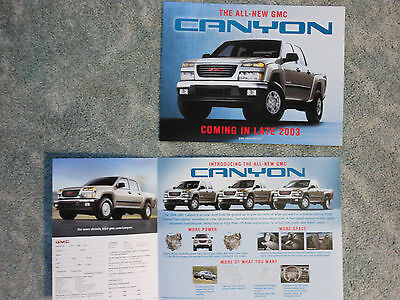 2004 GMC Canyon Introductory Color Facts Card Auto Show