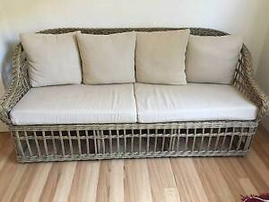 Rattan Cane Outdoor 4 seat couch Gladesville Ryde Area Preview