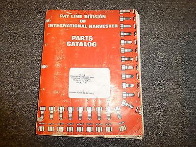 International Harvester Ih Td15b Crawler Tractor Equipment Part Catalog Manual