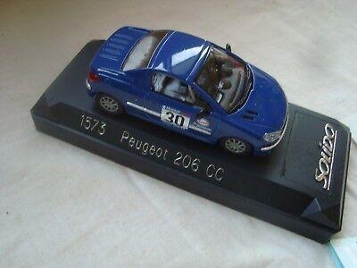 Miniatura 1/43 Peugeot 206 cc Solido 1573 con Stickers