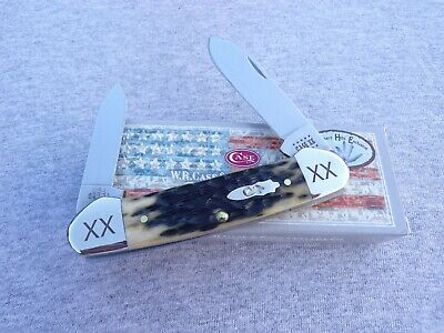 CASE XX *s SFO OLIVE GREEN TRANSITION YEAR CANOE KNIFE KNIVES