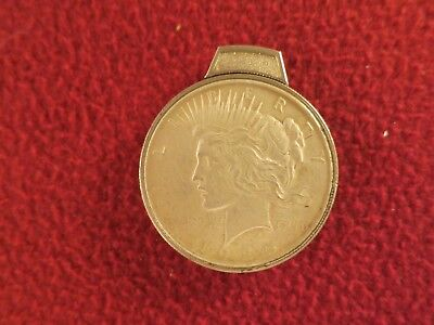 1925 BECKWITH US PEACE SILVER DOLLAR CIGARETTE LIGHTER USA