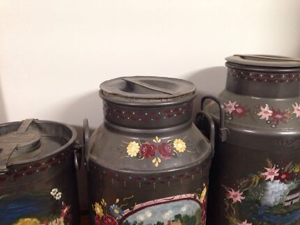 Original milk cans hand painted x3 sizes  Renmark North Renmark Paringa Preview