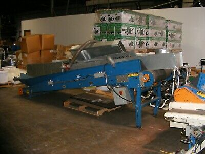 Uniflo Incline Power Belt Conveyor 20 Wide By 12ft Long In Nj