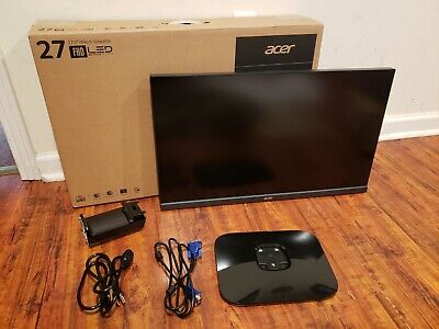 "Acer 27"" LCD Monitor Display KA270H Full HD Backlit 1920x1080 4ms Response Time"