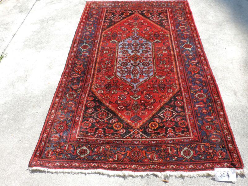 5x7ft. Vintage Handmade Bidjar Hamedan Wool Rug