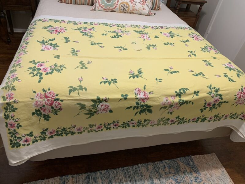 vintage printed tablecloth lot